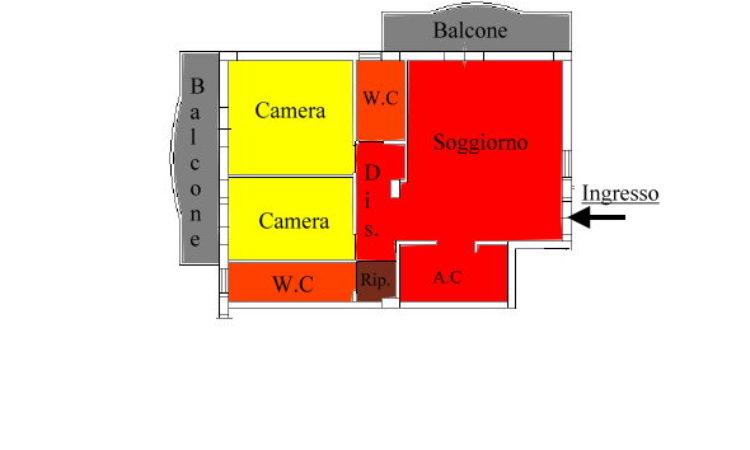 Appartamento – Scalo Montalto Uffugo - Tutte le planimetrie
