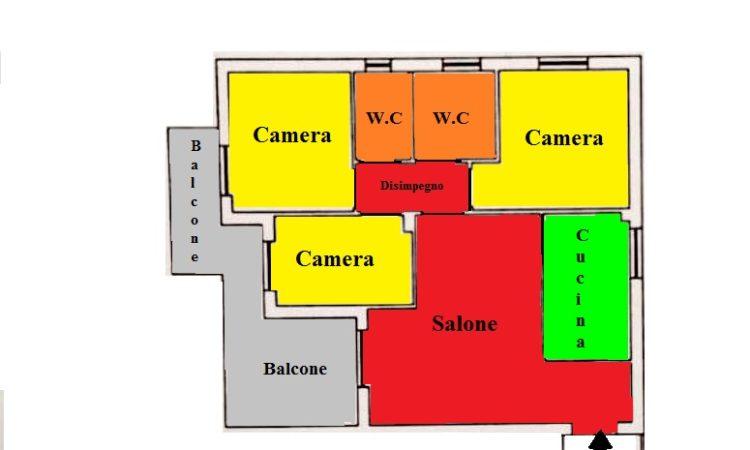 Appartamento- Settimo - Tutte le planimetrie